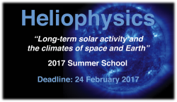 Heliophysics Summer School 2017 poster