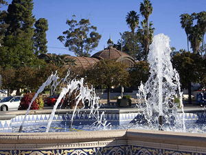 Balboa Park Fountains in San Diego
