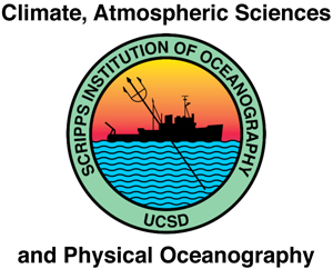 Climate, Atmospheric Sciences and Physical Oceanography, Scripps Institution of Oceanography, UCSD logo